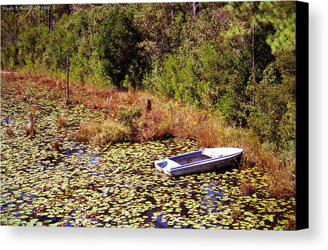 Boat Canvas Print featuring the photograph Private Spot by Nicole I Hamilton