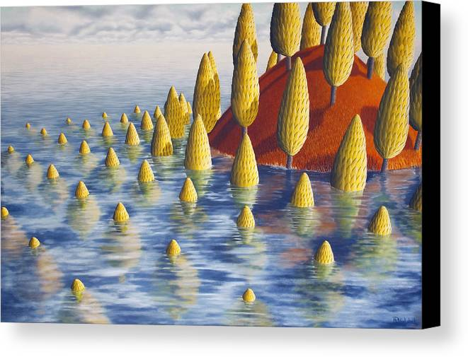 Tree Canvas Print featuring the painting Protea Madida by Patricia Van Lubeck