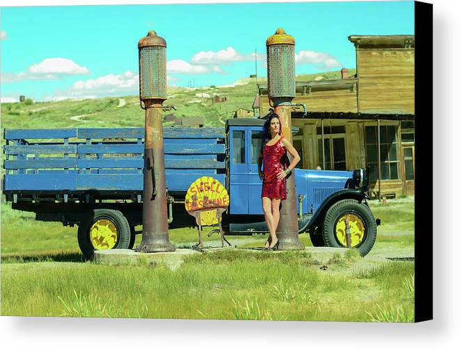 Canvas Print featuring the photograph Pump It Up by Vivian Sampson