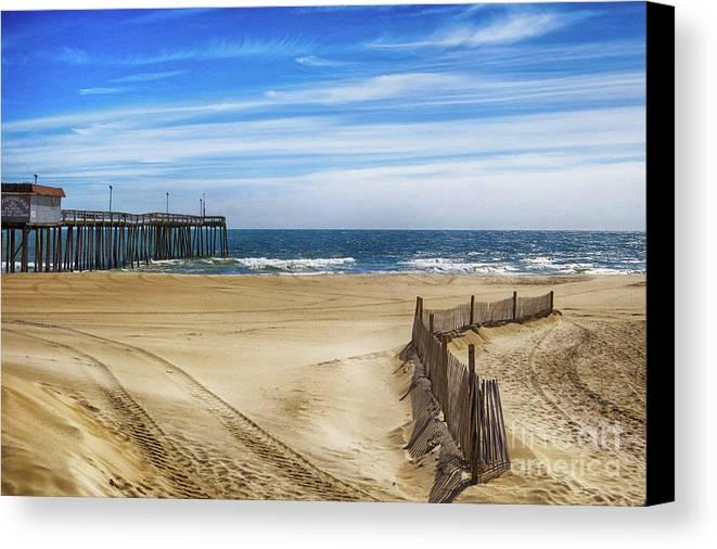 Ocean City Canvas Print featuring the photograph Quiet Day On The Beach by Dawn Gari