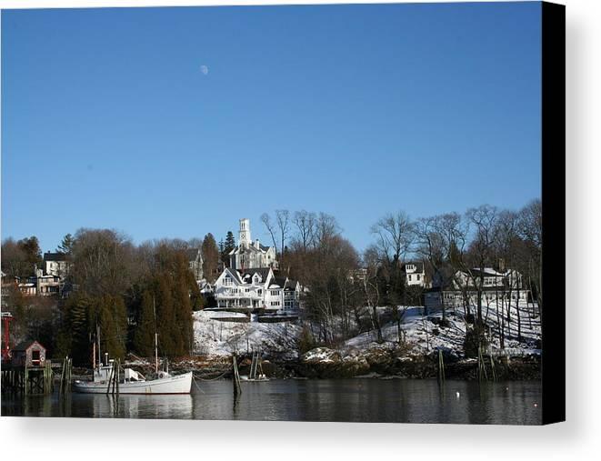 Landscape Canvas Print featuring the photograph Quiet Harbor by Doug Mills