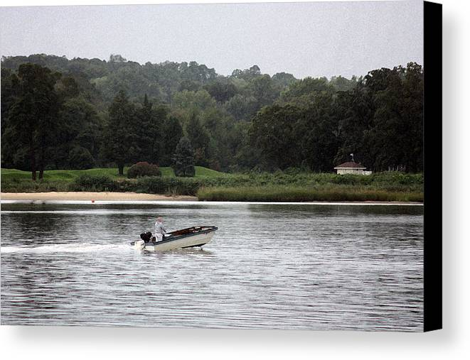 River Canvas Print featuring the photograph Quiet River by Mary Haber