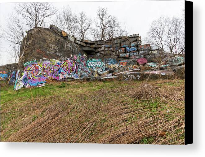 Quincy Quarries Canvas Print featuring the photograph Quincy Quarries 2 by Brian MacLean