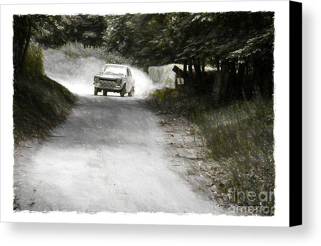 Rally Canvas Print featuring the digital art Rally Escort by Roger Lighterness