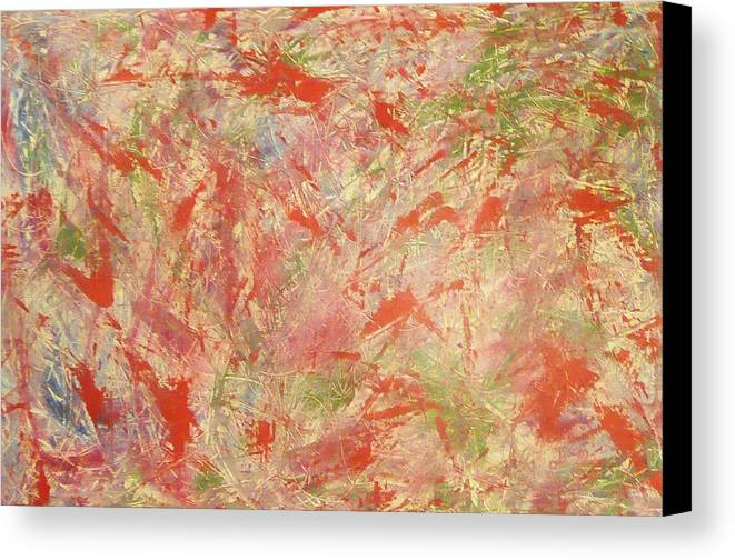 Abstract Canvas Print featuring the painting Rapidity by Guillermo Mason