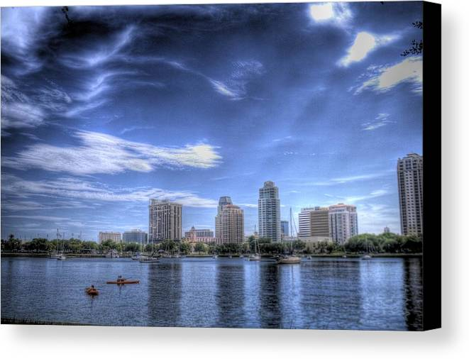 Canoe Canvas Print featuring the photograph Ray Escape by Larry Underwood
