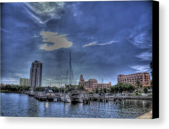 Hdr Canvas Print featuring the photograph Ray Port by Larry Underwood