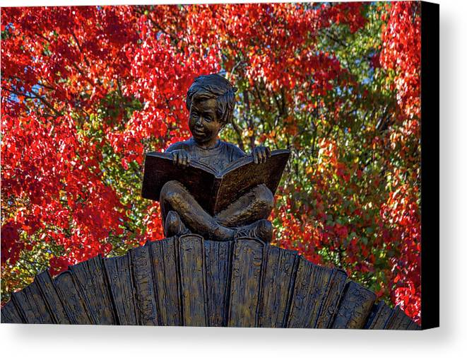 New Mexico Canvas Print featuring the photograph Reading Boy - Santa Fe by Stuart Litoff