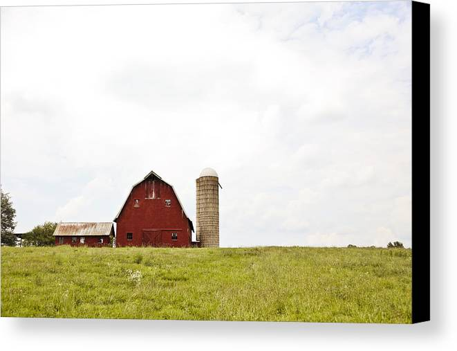 Red Barn Canvas Print featuring the photograph Red Barn by Meg Porter