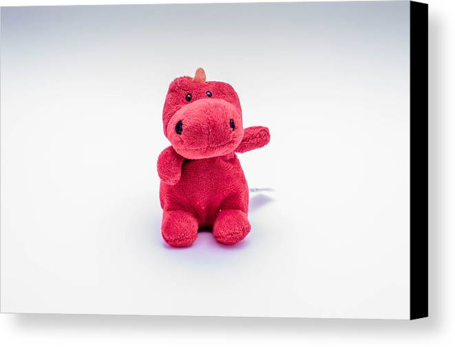 Fury Toy Monster Red Canvas Print featuring the photograph Red Monster by Patrick Lennon