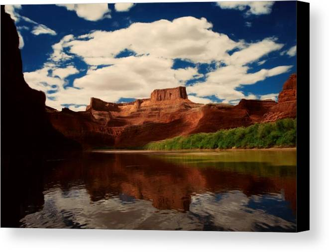 Digital Canvas Print featuring the painting Red Mountain by Lori DeBruijn