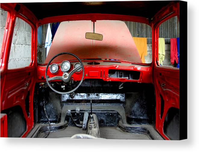 Jez C Self Canvas Print featuring the photograph Red Ride by Jez C Self