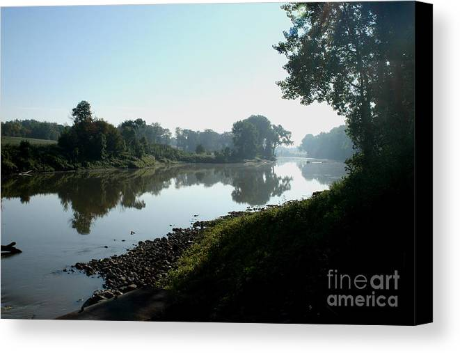 Landscape Canvas Print featuring the photograph Red River Of The North by Steve Augustin