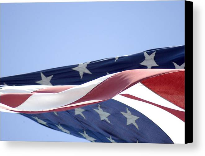 United States Flag Canvas Print featuring the photograph Red White And Blue - American Flag by D'Arcy Evans