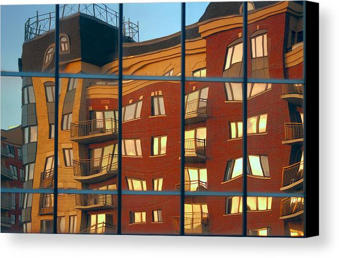Glass Canvas Print featuring the photograph Reflection Le Selection by Elisabeth Van Eyken