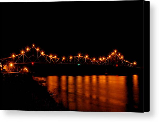 Bridge Canvas Print featuring the photograph Reflection Of The Black Hawk by Betsy Stahl