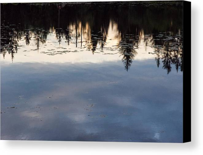 Bergen Canvas Print featuring the photograph Reflections by Claudio Bergero