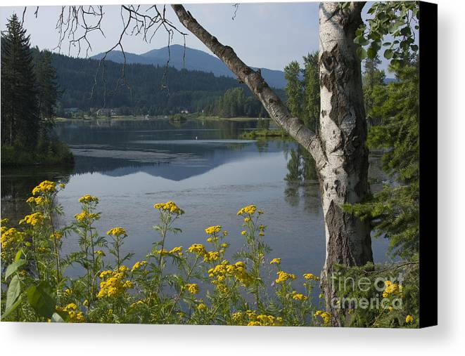Landscape Canvas Print featuring the photograph Reflections Of Summer by Idaho Scenic Images Linda Lantzy