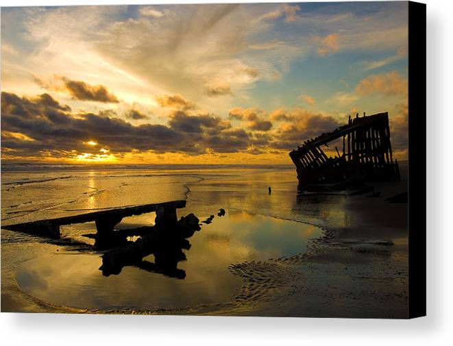 Landscape Canvas Print featuring the photograph Reflections Of Time by Jennifer Owen