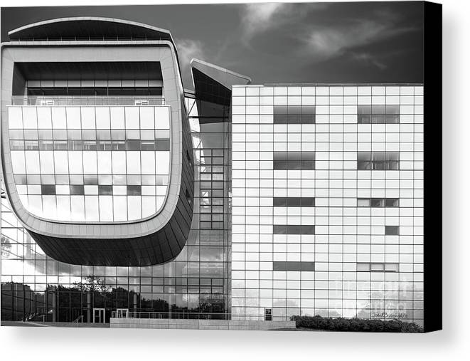 Empac Canvas Print featuring the photograph Rensselaer Polytechnic Institute Empac by University Icons