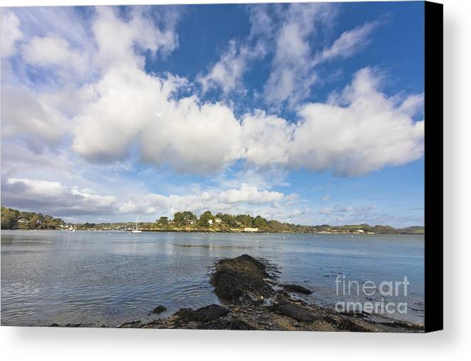 Coastline Canvas Print featuring the photograph Restronguet Point Cornwall by Terri Waters