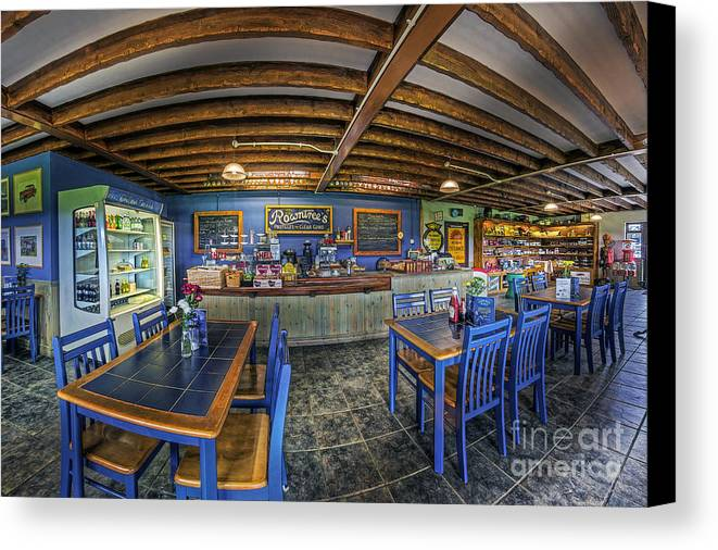 Illustration Canvas Print featuring the photograph Retro Cafe by Ian Mitchell