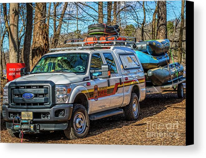 Richmond Fire Canvas Print featuring the photograph Richmond Fire And Ems Equipment 7461 by Doug Berry