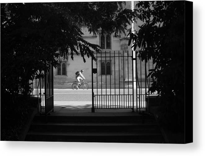 Jez C Self Canvas Print featuring the photograph Riding Out From Classes by Jez C Self