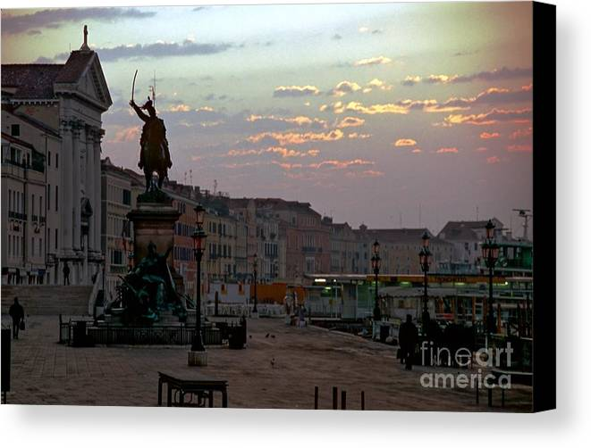 Venice Canvas Print featuring the photograph Riva Schiavoni In Venice In The Morning by Michael Henderson