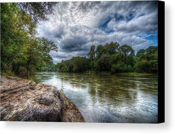 River Canvas Print featuring the photograph River Bend by Andrew Savasuk