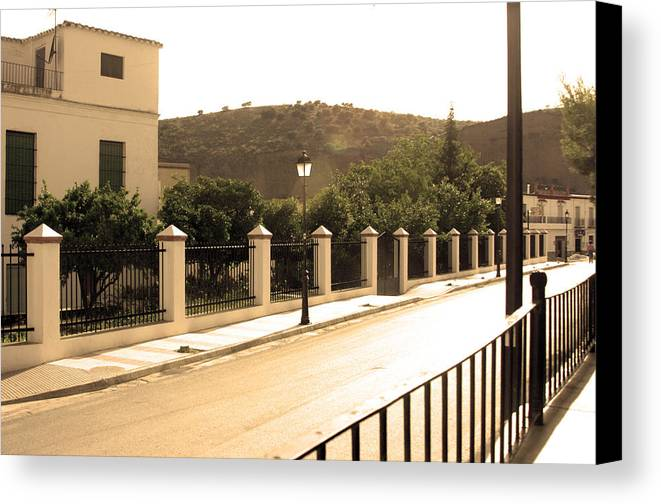 Photographer Canvas Print featuring the photograph Road Out Of Town by Jez C Self