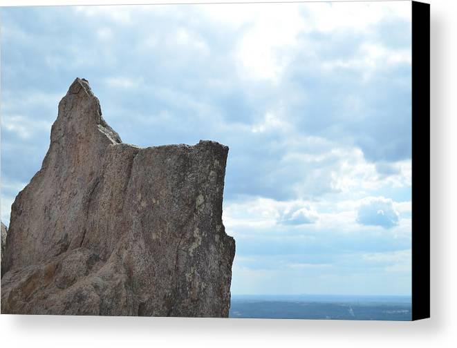 Rock Canvas Print featuring the photograph Rock Top by Natalia Kazana