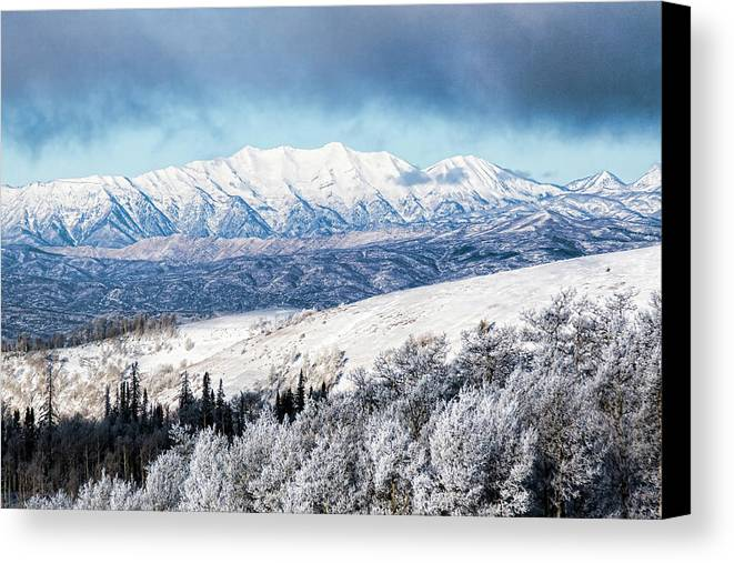 Mount Nebo Canvas Print featuring the photograph Rocky Mountain Winter by Photopoint Art