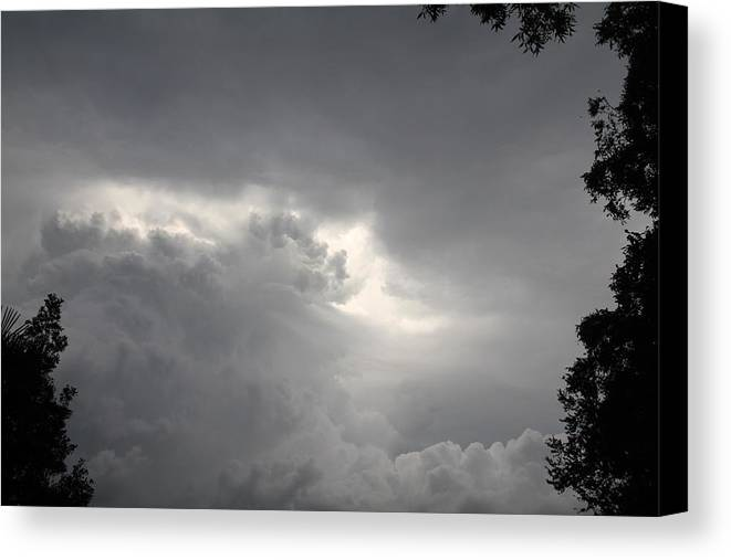 Clouds Canvas Print featuring the photograph Roiling Storm Iv by Benji Alexander Palus