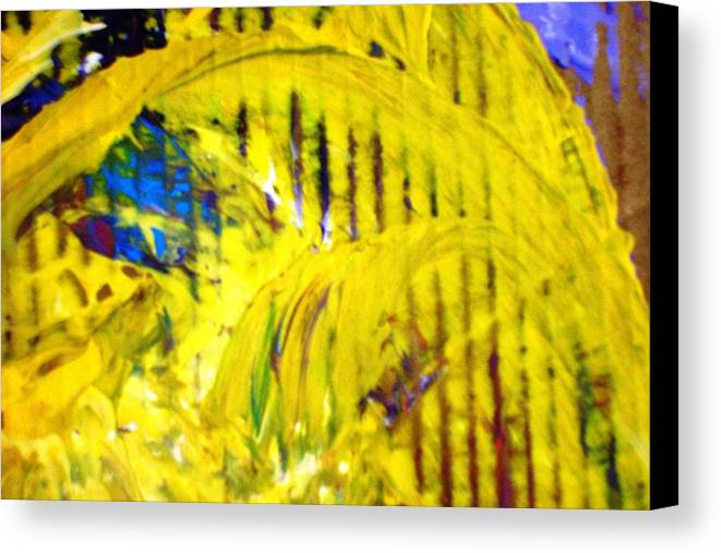 Yellow Canvas Print featuring the painting Roller Coaster From Roller Coaster by Bruce Combs - REACH BEYOND