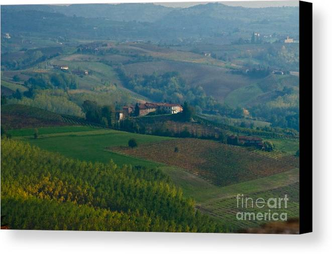 Italy Canvas Print featuring the photograph Rolling Hills Of The Piemonte Region by Carl Jackson