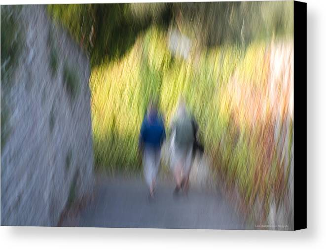 Italy Canvas Print featuring the photograph Romantic Walking by Luigi Barbano BARBANO LLC