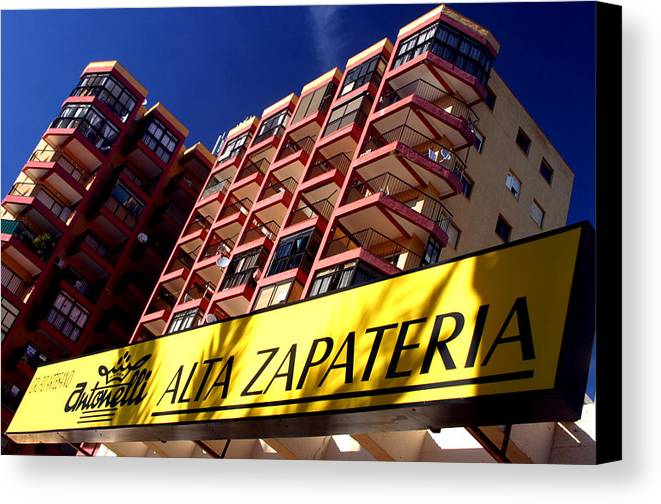 Photographer Canvas Print featuring the photograph Roquettas 48 by Jez C Self