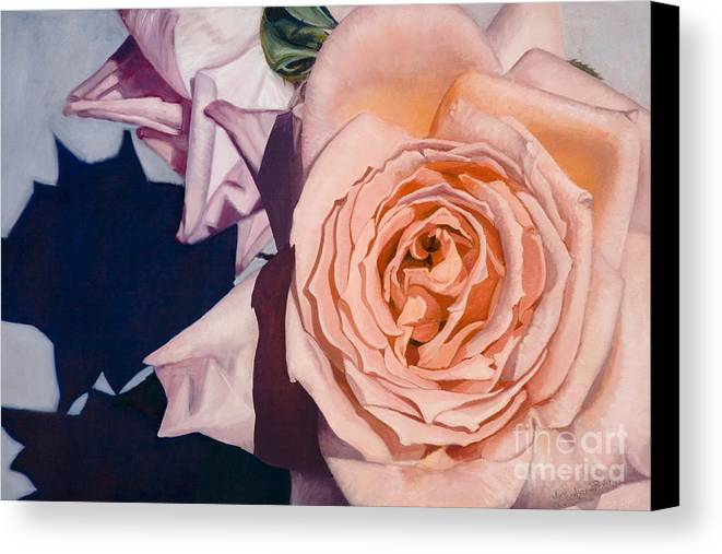 Roses Canvas Print featuring the painting Rose Splendour by Kerryn Madsen-Pietsch