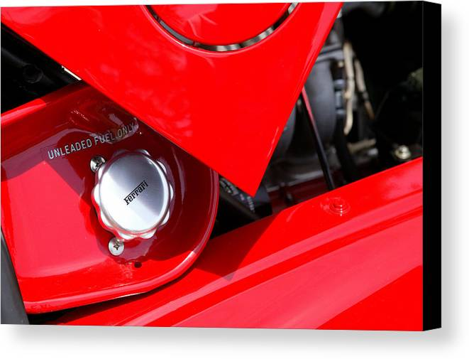 Red Canvas Print featuring the photograph Rosso by Steve Parrott