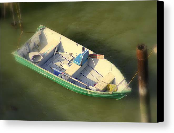 Carcinas Bridge Canvas Print featuring the photograph Row Row Row Your Boat by Kerry Reed