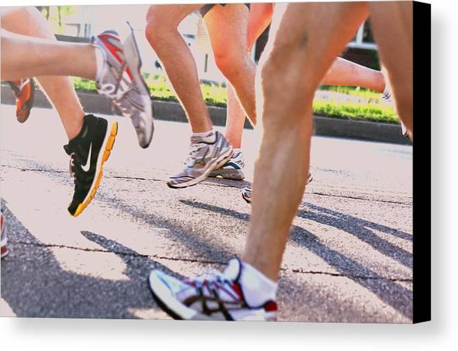 Marathon Canvas Print featuring the photograph Run by Susie DeZarn