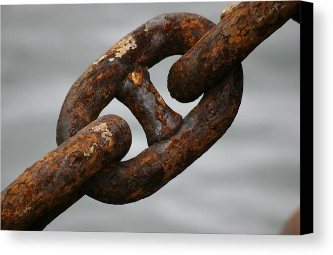 Chain Canvas Print featuring the photograph Rusty Chain by Hans Jankowski