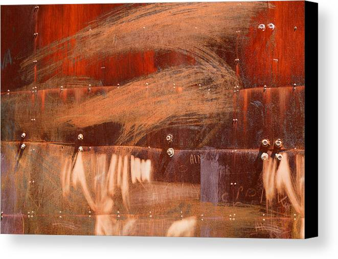 Bolt Canvas Print featuring the photograph Rusty Container by Martine Affre Eisenlohr