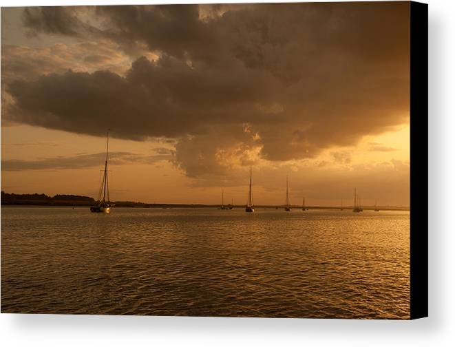 Colne Canvas Print featuring the photograph Safe Anchorage - River Colne by Chris Pickett