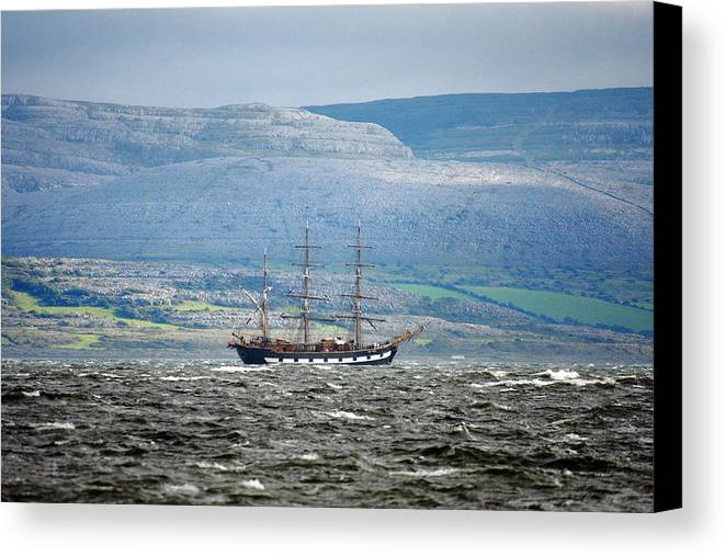 Sailboat Canvas Print featuring the photograph Sailboat Galway Ireland by Pierre Leclerc Photography