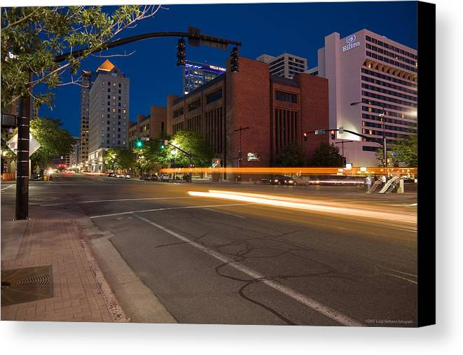 U.s.a. Canvas Print featuring the photograph Salt Lake City 1 by Luigi Barbano BARBANO LLC