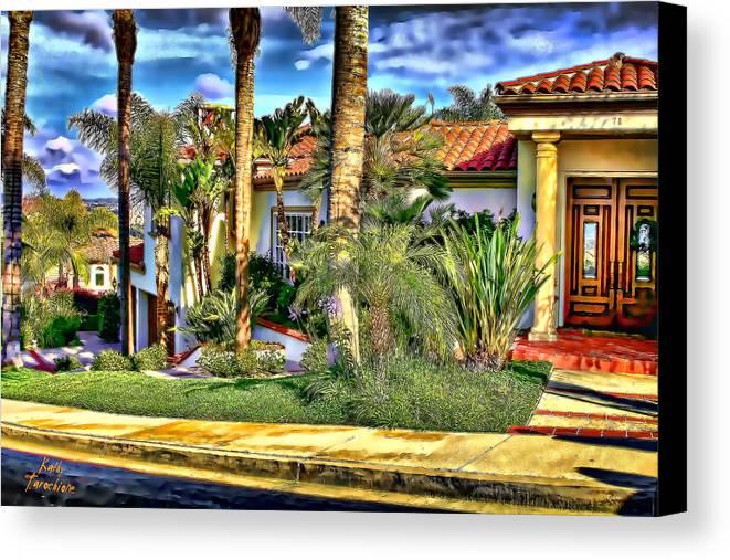 San Clemente Canvas Print featuring the photograph San Clemente Estate 3 by Kathy Tarochione