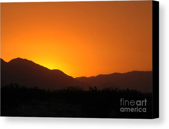 Sunset Canvas Print featuring the photograph San Jacinto Dusk Near Palm Springs by Michael Ziegler
