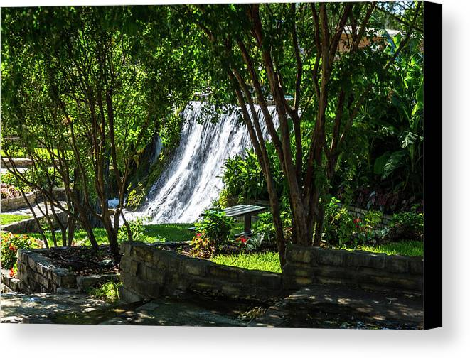 Waterfall Canvas Print featuring the photograph San Saba Waterfall by Bob Marquis